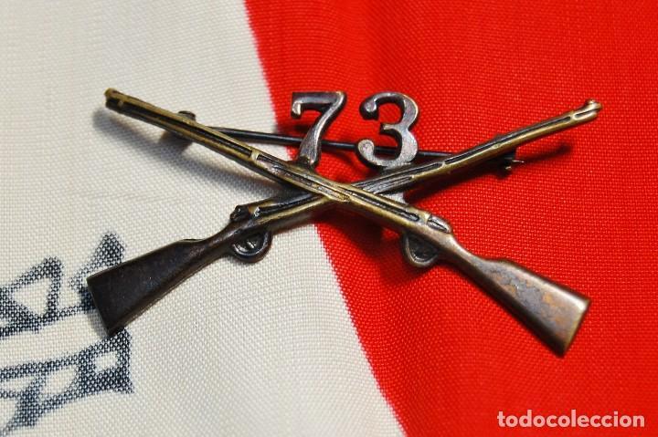 INSIGNIA DE CUELLO DE OFICIAL DEL 73 RGTO. DE INFANTERIA DE ESTADOS UNIDOS.SEGUNDA GUERRA MUNDIAL (Militar - I Guerra Mundial)