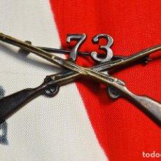 Militaria: INSIGNIA DE CUELLO DE OFICIAL DEL 73 RGTO. DE INFANTERIA DE ESTADOS UNIDOS.SEGUNDA GUERRA MUNDIAL. Lote 122821463