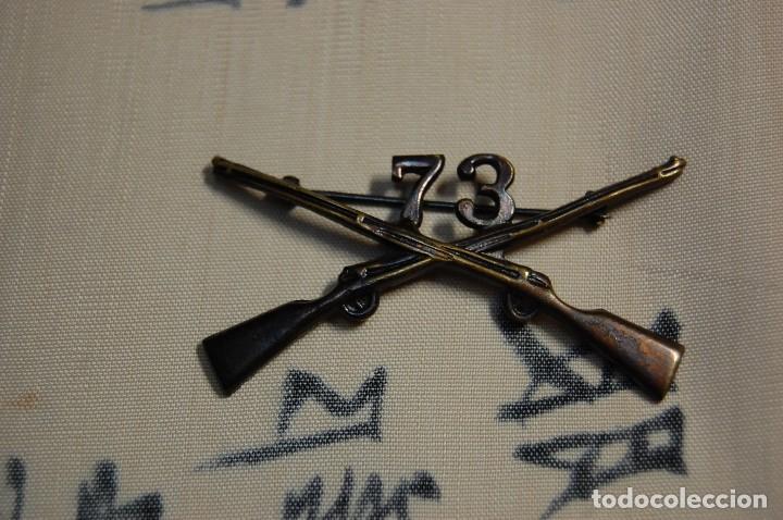 Militaria: INSIGNIA DE CUELLO DE OFICIAL DEL 73 Rgto. DE INFANTERIA DE ESTADOS UNIDOS.SEGUNDA GUERRA MUNDIAL - Foto 5 - 122821463