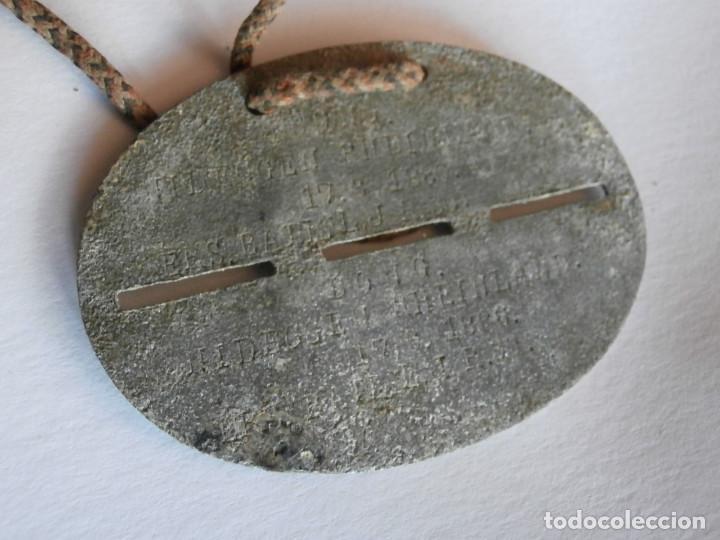 Militaria: Chapa o placa de identificación de un soldado alemán de la I primera guerra mundial con su cordón - Foto 2 - 127645723