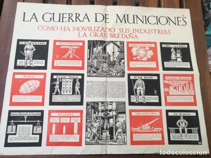 CARTEL DE LA GUERRA DE MUNICIONES (1914-1918 GRAN BRETAÑA).I PRIMERA GUERRA MUNDIAL. 53.5 X 42.5 CM (Militar - I Guerra Mundial)