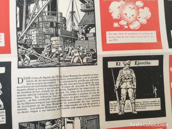 Militaria: CARTEL DE LA GUERRA DE MUNICIONES (1914-1918 GRAN BRETAÑA).I PRIMERA GUERRA MUNDIAL. 53.5 x 42.5 CM - Foto 3 - 129707247
