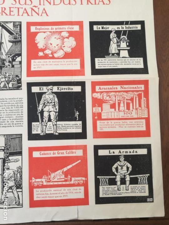 Militaria: CARTEL DE LA GUERRA DE MUNICIONES (1914-1918 GRAN BRETAÑA).I PRIMERA GUERRA MUNDIAL. 53.5 x 42.5 CM - Foto 4 - 129707247