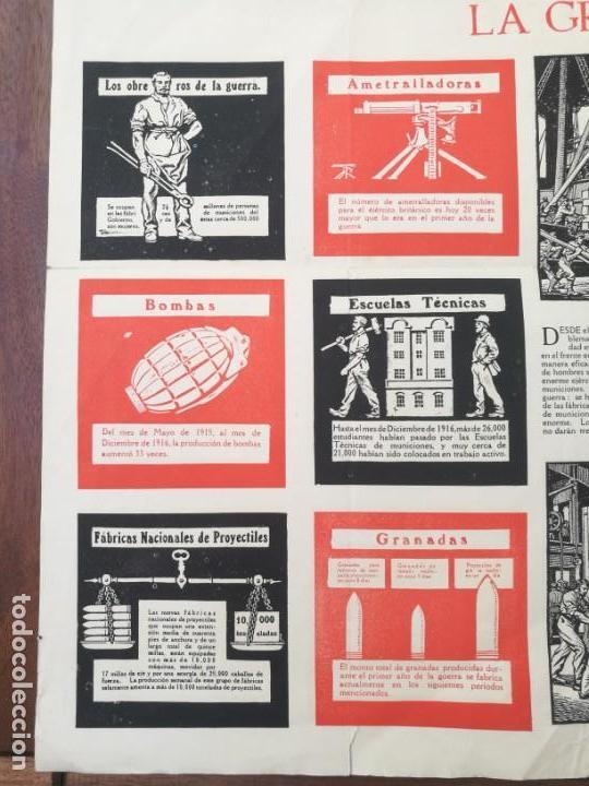 Militaria: CARTEL DE LA GUERRA DE MUNICIONES (1914-1918 GRAN BRETAÑA).I PRIMERA GUERRA MUNDIAL. 53.5 x 42.5 CM - Foto 5 - 129707247
