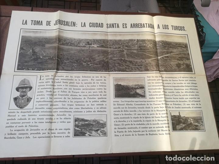 CARTEL LA TOMA DE JERUSALÉN: LA CIUDAD SANTA ES A LOS TURCOS. I PRIMERA GUERRA MUNDIAL(1914-1918) (Militar - I Guerra Mundial)