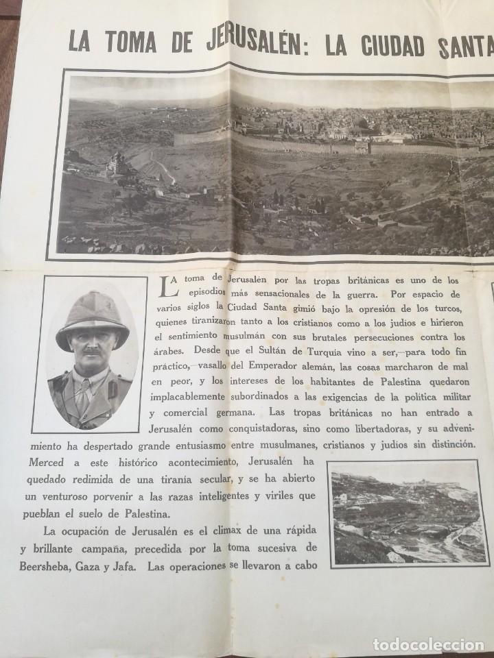 Militaria: CARTEL LA TOMA DE JERUSALÉN: LA CIUDAD SANTA ES A LOS TURCOS. I PRIMERA GUERRA MUNDIAL(1914-1918) - Foto 2 - 129708879