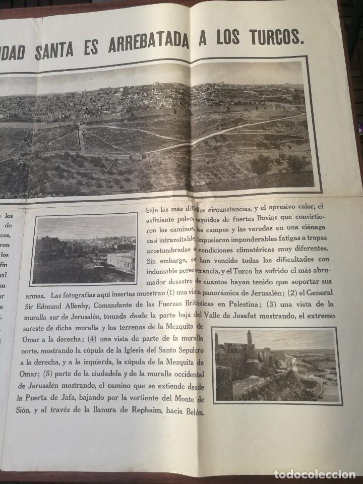 Militaria: CARTEL LA TOMA DE JERUSALÉN: LA CIUDAD SANTA ES A LOS TURCOS. I PRIMERA GUERRA MUNDIAL(1914-1918) - Foto 3 - 129708879