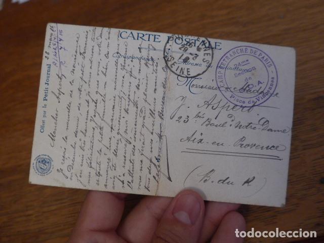 Militaria: Antigua postal francesa de Joffre de 1916, escrita, I guerra mundial, original - Foto 3 - 131406818
