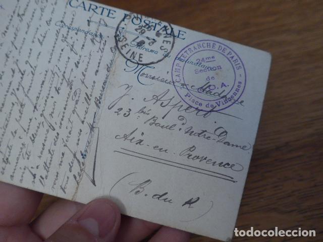 Militaria: Antigua postal francesa de Joffre de 1916, escrita, I guerra mundial, original - Foto 5 - 131406818