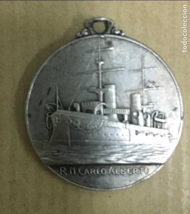 Militaria: MEDALLA ITALIANA crucero Carlo Alberto - Foto 2 - 137109666