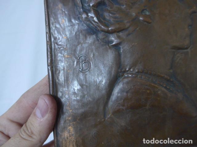 Militaria: Antiguo recuerdo en cobre de I guerra mundial, original, Ingles. 1914. Relieve reina Elisabeth. - Foto 6 - 137803958