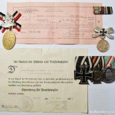 Militaria: DOCUMENTOS Y MEDALLAS DE WALTER GUTSCHE DEL 360 RGTO.DE INFANTERIA ALEMAN.PRIMERA GUERRA MUNDIAL.. Lote 143978850