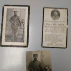 Militaria: RECORDATORIO + FOTO CAIDO ALEMAN WW1. Lote 145541662