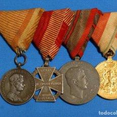 Militaria: USADO PASADOR DE GALA AUSTRIACO, I GUERRA MUNDIAL, 4 CONDECORACIONES.. Lote 147913378