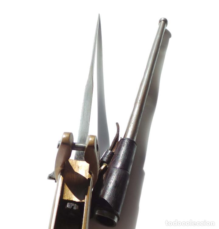 Militaria: BAYONETA PRITCHARD-GREENER PARA REVOLVER WEBLEY 455 - Foto 11 - 154296050