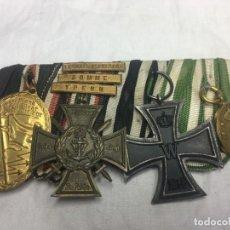 Militaria: ALEMANIA, PRUSIA,, PASADOR CUATRO CONDECORACIONES MARINA DE GUERRA, TRES PASADORES DE CAMPAÑAS.. Lote 155456910