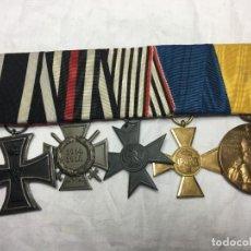 Militaria: ALEMANIA, PRUSIA, PASADOR CINCO CONDECORACIONES.. Lote 155469874