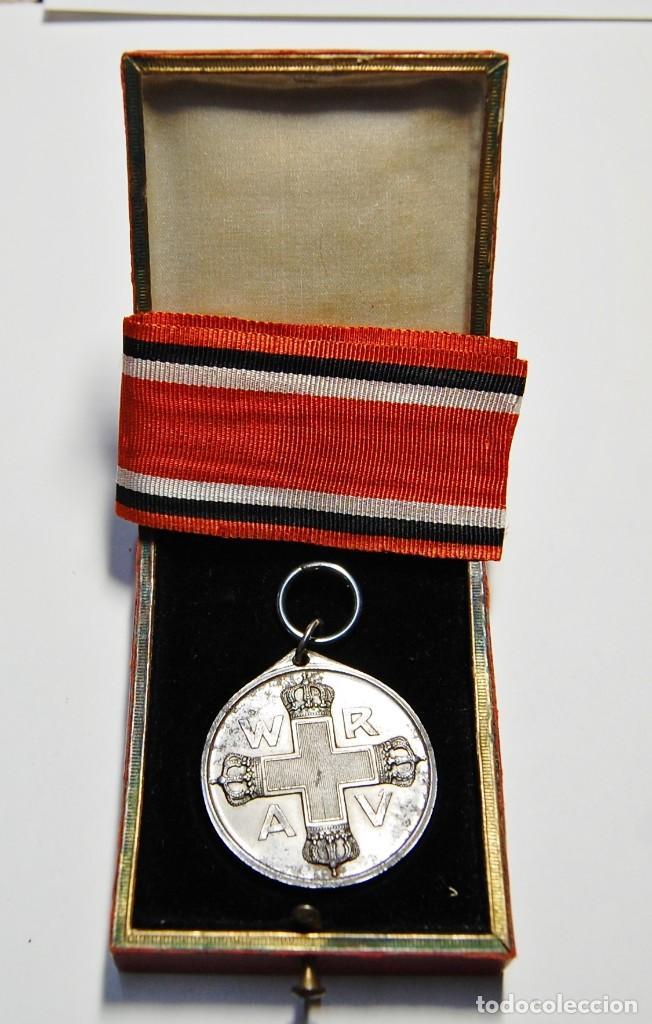 RARA MEDALLA AL MERITO DE LA CRUZ ROJA DE 2ª CLASE DE PRUSIA.PRIMERA GUERRA MUNDIAL. (Militar - I Guerra Mundial)