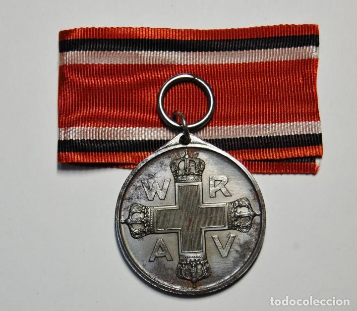 Militaria: RARA MEDALLA AL MERITO DE LA CRUZ ROJA DE 2ª CLASE DE PRUSIA.PRIMERA GUERRA MUNDIAL. - Foto 4 - 155653646