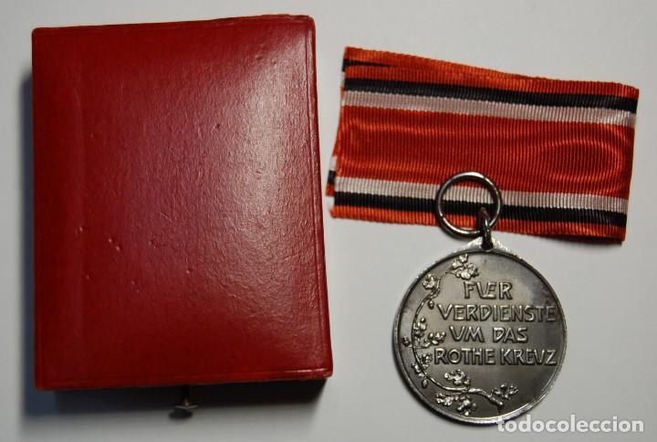 Militaria: RARA MEDALLA AL MERITO DE LA CRUZ ROJA DE 2ª CLASE DE PRUSIA.PRIMERA GUERRA MUNDIAL. - Foto 7 - 155653646