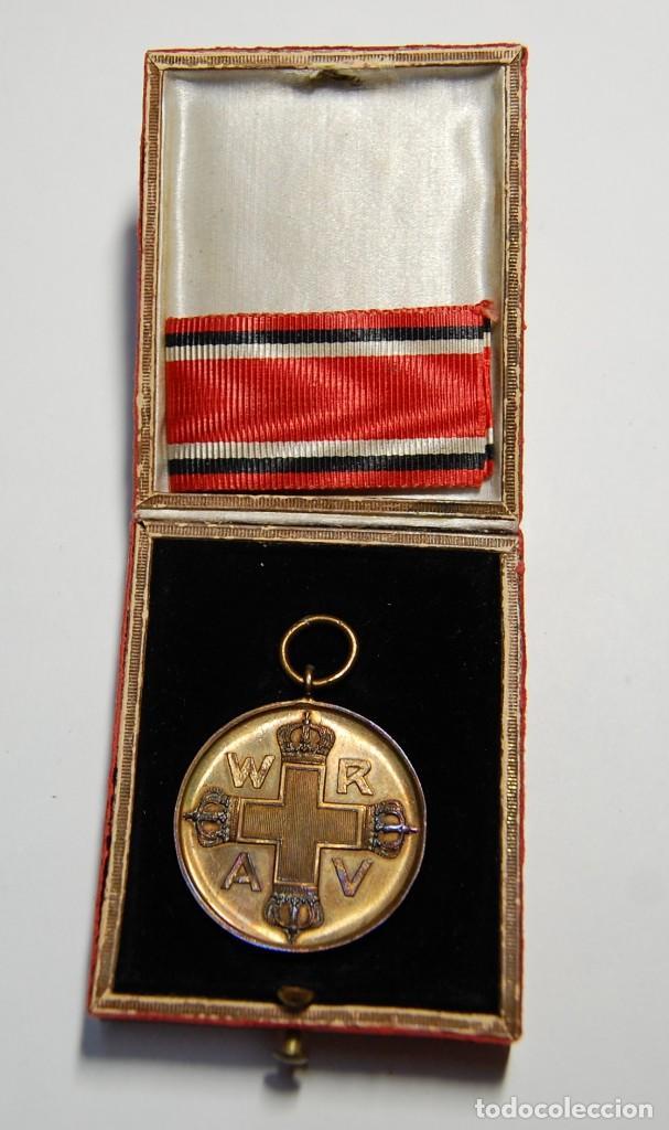 RARA MEDALLA AL MERITO DE LA CRUZ ROJA DE 1ª CLASE DE PRUSIA.PRIMERA GUERRA MUNDIAL. (Militar - I Guerra Mundial)