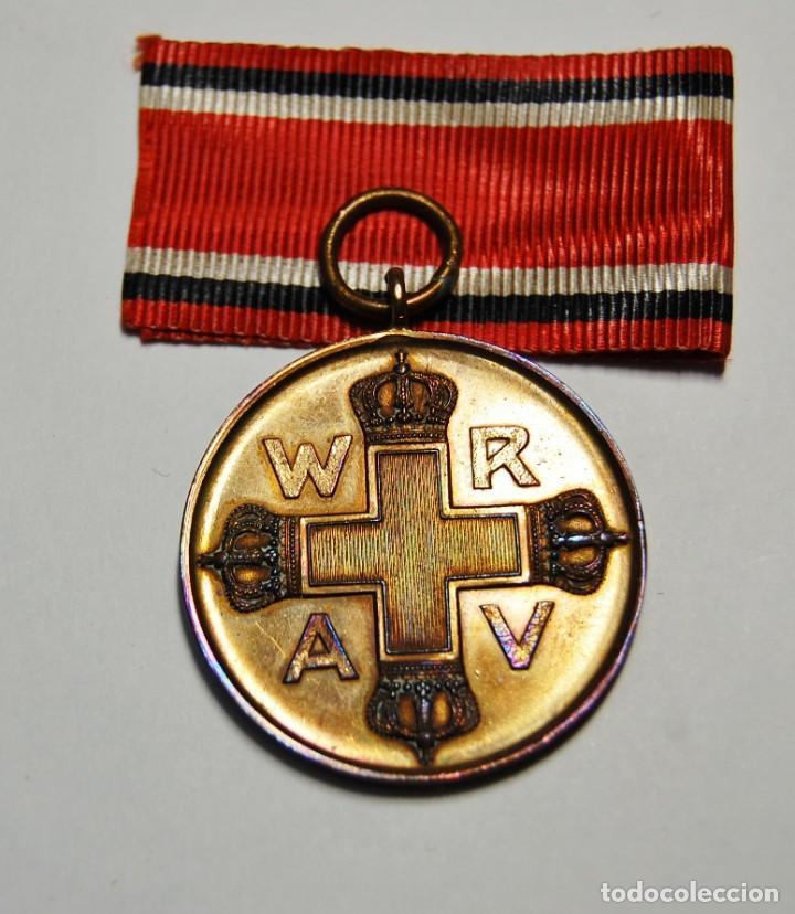 Militaria: RARA MEDALLA AL MERITO DE LA CRUZ ROJA DE 1ª CLASE DE PRUSIA.PRIMERA GUERRA MUNDIAL. - Foto 5 - 155654954