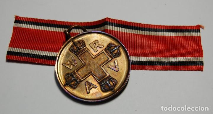 Militaria: RARA MEDALLA AL MERITO DE LA CRUZ ROJA DE 1ª CLASE DE PRUSIA.PRIMERA GUERRA MUNDIAL. - Foto 6 - 155654954