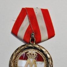 Militaria: RARA MEDALLA DE PLATA MACIZA Y ESMALTE DE LA MARINA REAL DE DINAMARCA.PRIMERA GUERRA MUNDIAL.. Lote 141505202
