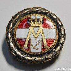 Militaria: BELLISIMA INSIGNIA DE OJAL.PLATA MACIZA Y ESMALTE DE LA MARINA REAL DE DINAMARCA.1ª GUERRA MUNDIAL. Lote 156554142