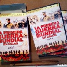 Militaria: LA PRIMERA GUERRA MUNDIAL EN COLOR. 3 DVD. MAS DE 7 HORAS CON EXTRAS INCLUIDOS. Lote 173390097