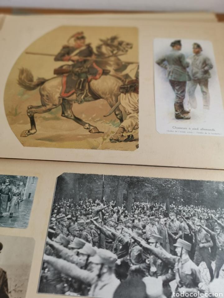 Militaria: 14 hojas de Álbum con recortes militares de Periódicos de la primera Guerra Mundial - Foto 2 - 176911850