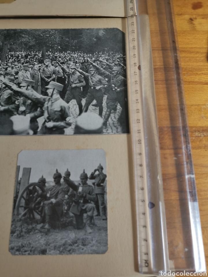 Militaria: 14 hojas de Álbum con recortes militares de Periódicos de la primera Guerra Mundial - Foto 3 - 176911850