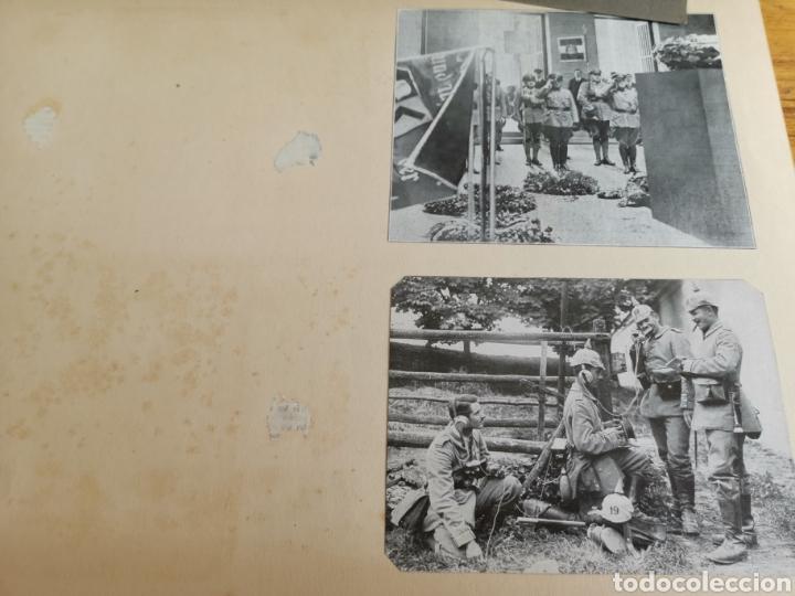 Militaria: 14 hojas de Álbum con recortes militares de Periódicos de la primera Guerra Mundial - Foto 5 - 176911850