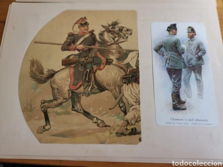 Militaria: 14 hojas de Álbum con recortes militares de Periódicos de la primera Guerra Mundial - Foto 7 - 176911850