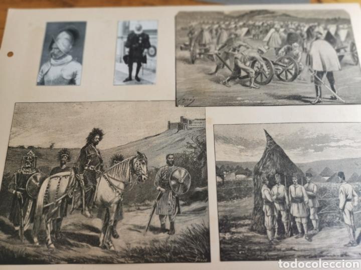 Militaria: 14 hojas de Álbum con recortes militares de Periódicos de la primera Guerra Mundial - Foto 8 - 176911850