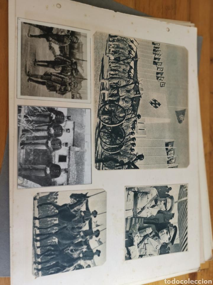 Militaria: 14 hojas de Álbum con recortes militares de Periódicos de la primera Guerra Mundial - Foto 10 - 176911850