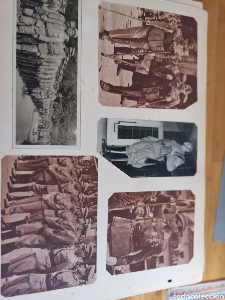 Militaria: 14 hojas de Álbum con recortes militares de Periódicos de la primera Guerra Mundial - Foto 11 - 176911850