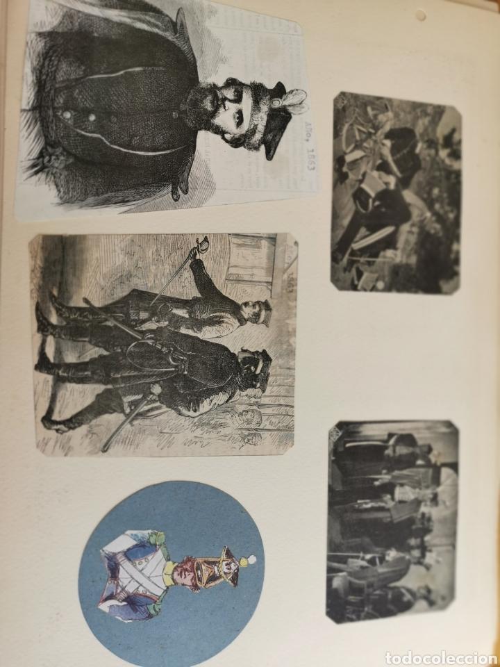 Militaria: 14 hojas de Álbum con recortes militares de Periódicos de la primera Guerra Mundial - Foto 13 - 176911850