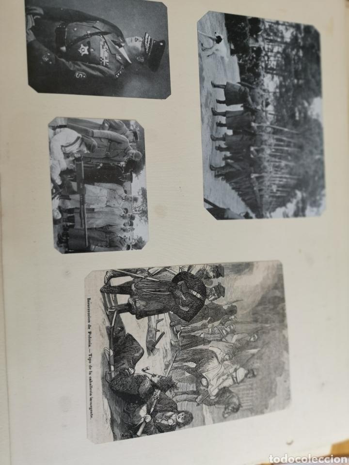 Militaria: 14 hojas de Álbum con recortes militares de Periódicos de la primera Guerra Mundial - Foto 15 - 176911850