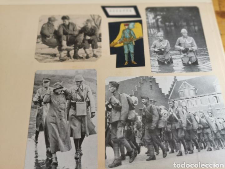 Militaria: 14 hojas de Álbum con recortes militares de Periódicos de la primera Guerra Mundial - Foto 21 - 176911850