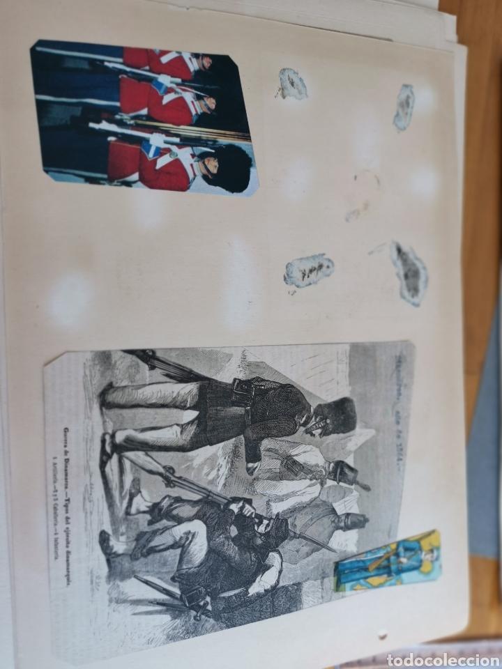 Militaria: 14 hojas de Álbum con recortes militares de Periódicos de la primera Guerra Mundial - Foto 22 - 176911850