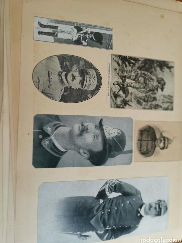 Militaria: 14 hojas de Álbum con recortes militares de Periódicos de la primera Guerra Mundial - Foto 24 - 176911850