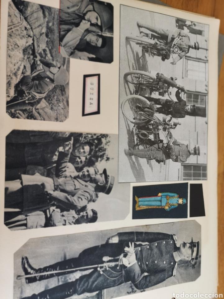 Militaria: 14 hojas de Álbum con recortes militares de Periódicos de la primera Guerra Mundial - Foto 25 - 176911850