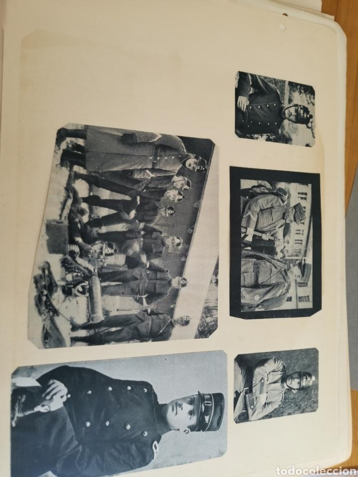 Militaria: 14 hojas de Álbum con recortes militares de Periódicos de la primera Guerra Mundial - Foto 27 - 176911850