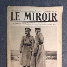 Militaria: MILITAR, 1A. GUERRA MUNDIAL. PERIODICO FRANCES LE MIROIR. NO.137, 9 DE JULIO DE 1916.. Lote 177426393