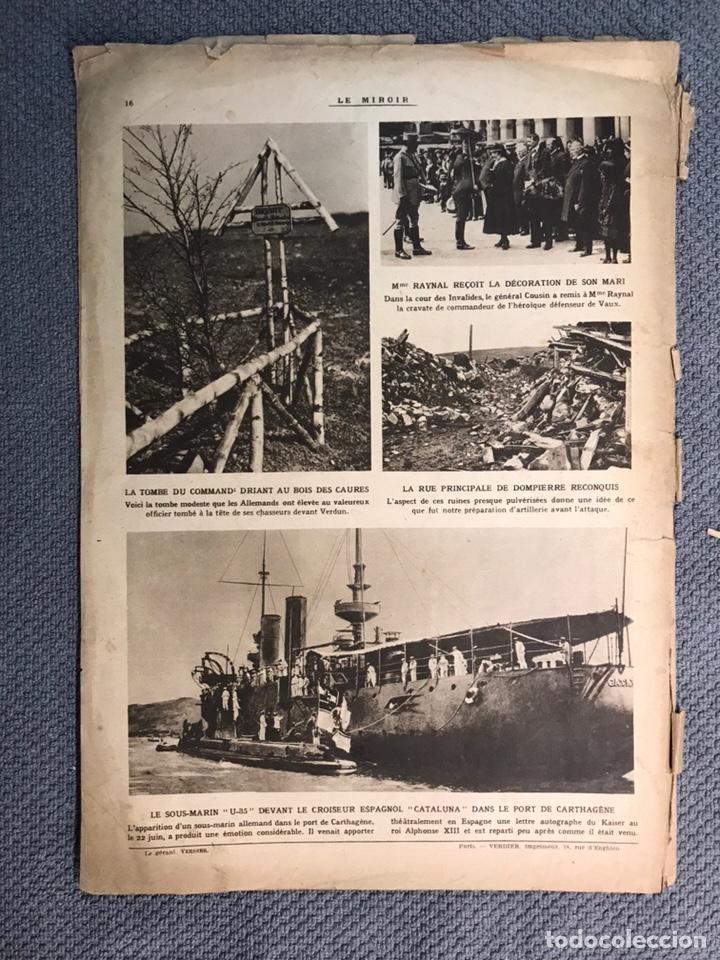 Militaria: MILITAR, 1a. Guerra Mundial. Periodico frances LE MIROIR. No.138, 16 de Julio de 1916. - Foto 5 - 177427369
