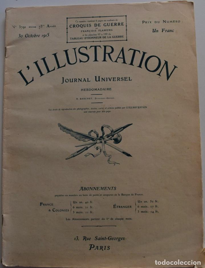 Militaria: LOTE TRES NÚMEROS L´ILLUSTRATION JOURNAL UNIVERSEL DEL AÑO 1915 CON NUMEROSA INFORMACIÓN GRÁFICA - Foto 2 - 179093725