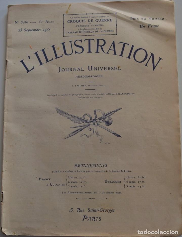 Militaria: LOTE TRES NÚMEROS L´ILLUSTRATION JOURNAL UNIVERSEL DEL AÑO 1915 CON NUMEROSA INFORMACIÓN GRÁFICA - Foto 5 - 179093725
