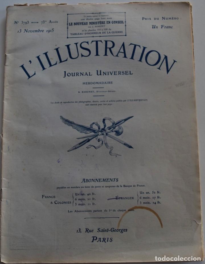 Militaria: LOTE TRES NÚMEROS L´ILLUSTRATION JOURNAL UNIVERSEL DEL AÑO 1915 CON NUMEROSA INFORMACIÓN GRÁFICA - Foto 8 - 179093725