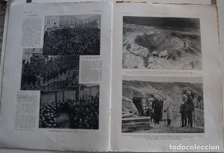 Militaria: LOTE TRES NÚMEROS L´ILLUSTRATION JOURNAL UNIVERSEL DEL AÑO 1915 CON NUMEROSA INFORMACIÓN GRÁFICA - Foto 9 - 179093725